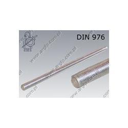 Threaded rod  M27×2000-42CrMo4 zinc plated  DIN 976