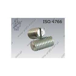 Slotted set screw with flat point  M10×18-14H zinc plated  ISO 4766