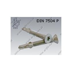 Self drilling screw with wings  Tx 6,3×45  fl Zn  DIN 7504 P
