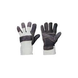 08 Handschoenen Compleet met teddyvoering canvas-palm SNOW