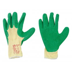 01 Latex-handschoenen Kleur groen / wit Maat 8