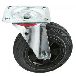 03 Zwenkwiel kunststofvelg rubberwiel 125 mm