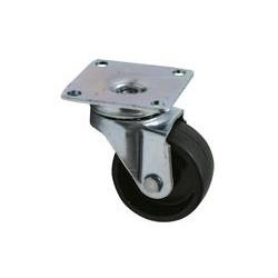 01 Zwenkwiel Kunststof wiel met glijlager 38 mm voor werkplaats