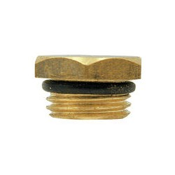 "07 plug 1/4"" met o-ring voor afdichting"